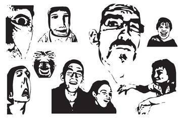 free vector Weird Faces