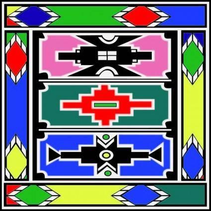 free vector Ndebele Artwork