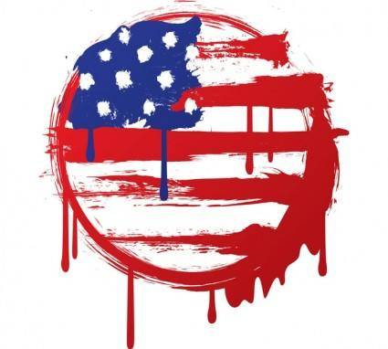 free vector American Grunge Flag Vector