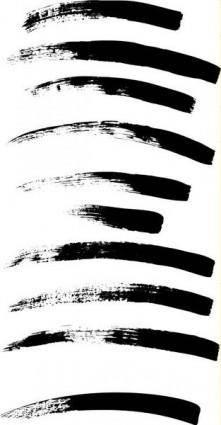 free vector Paint brush strokes