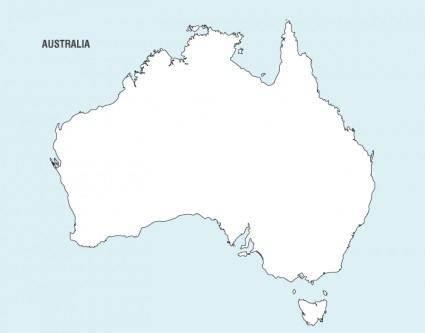 Australia Map Vector 8996