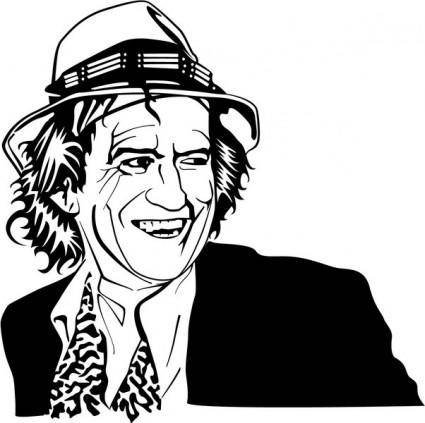 free vector Keith Richards Vector Portrait