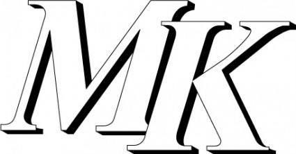 free vector MK logo