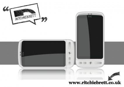free vector HTC Desire