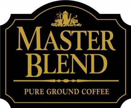 free vector Master Blend coffee logo