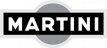 free vector Martini logo bw