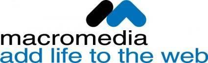 free vector Macromedia add life logo