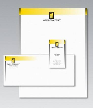 free vector Free Stationery Design Template