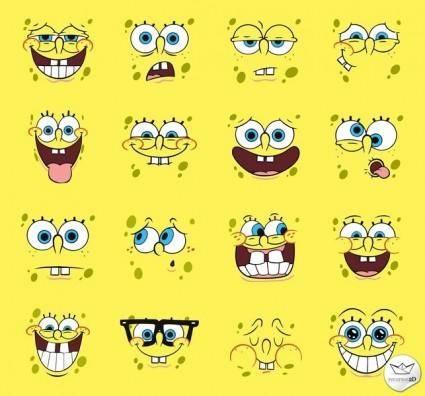 free vector Spongebob Squarepants Vector Pack Faces