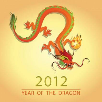 2012 dragon image illustration 03 vector