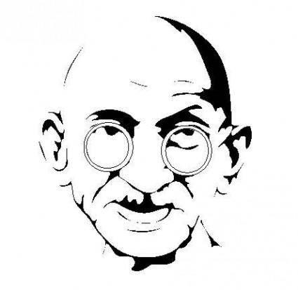 free vector Gandhi