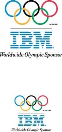 free vector IBM Olympic games logoA