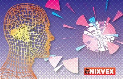 "free vector Nixvex ""WireFrame Head"" Free Vector"