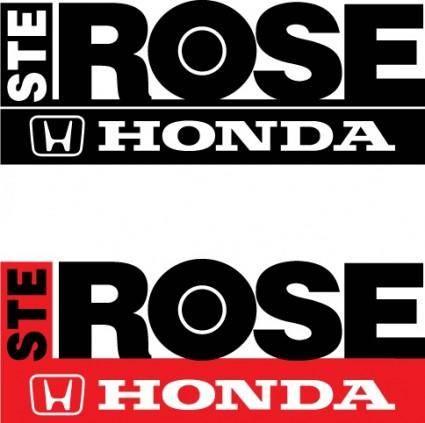 free vector Honda Ste-Rose logos