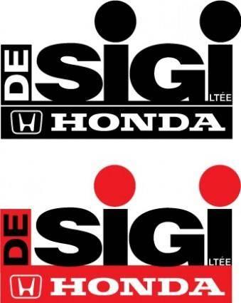 free vector Honda De-Sig logos