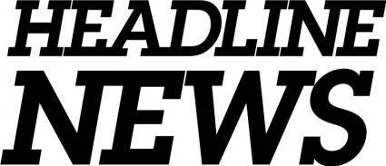 free vector Headline NEWS logo