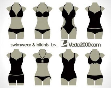free vector Illustration vector of swimwear and bikinis
