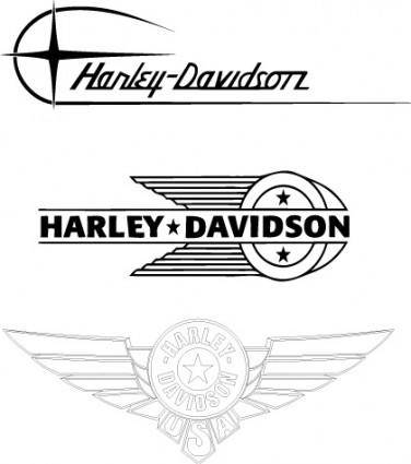 free vector Harley-Davidson old logos