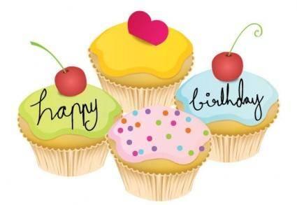 free vector May Cupcake Vectors
