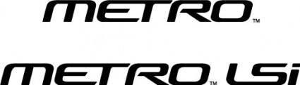 GM Metro logos