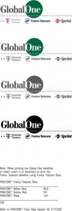 free vector Global One ID logo