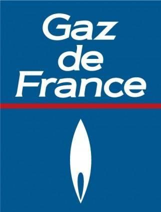 free vector Gaz de France logo