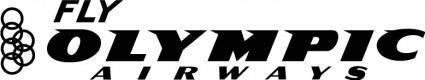 free vector Fly Olympic airways logo