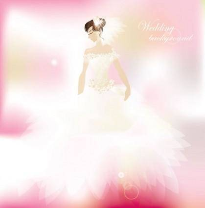 free vector Wedding postcards 04 vector