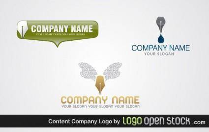 free vector Content Company Logo Pack