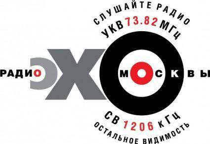 free vector Echo of Moscow label