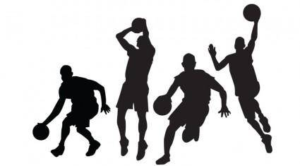 free vector Basketball Players Vectors