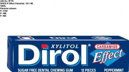 free vector Dirol Effect packshot logo