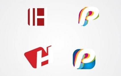 free vector H and P letter Logo Pack