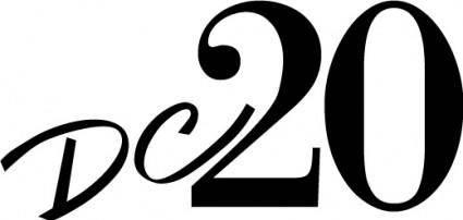 free vector DC20 TV logo