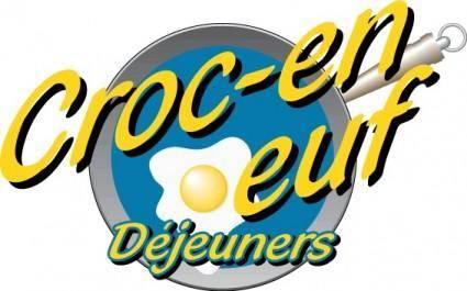 free vector Croc-en-Oeuf logo