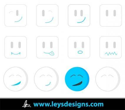 free vector Random Emotions