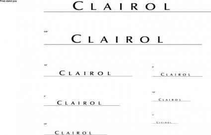 free vector Clairol Logo logo