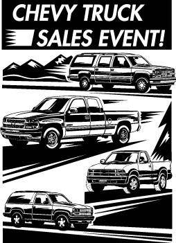 free vector Chevrolet Truck Sales Event