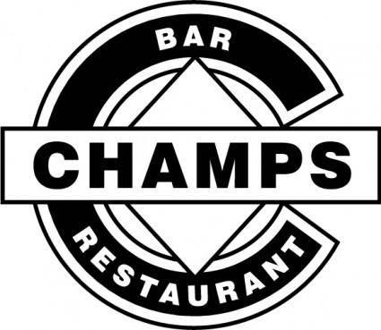 free vector Champs Bar Restaurant