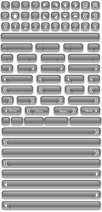 72 Free Vector Glass Buttons and Bars