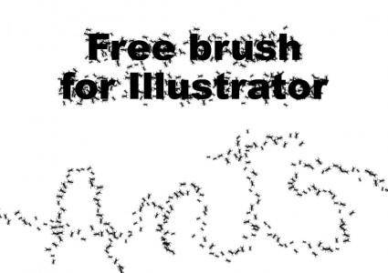 free vector Ant Illustrator Brush