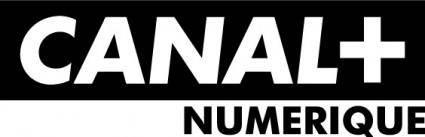 free vector Canal+ numerique logo