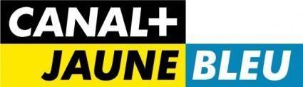Canal+ jaune bleu logo