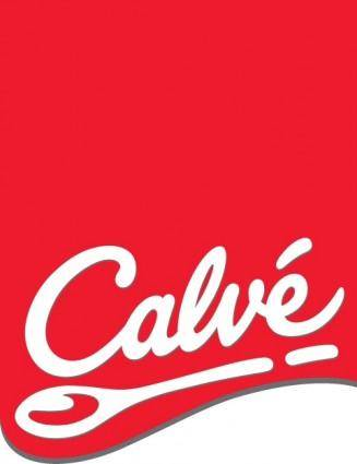 Calve logo with red label