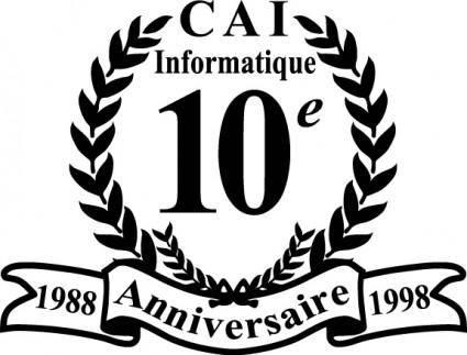 free vector CAI 10e anniversaire