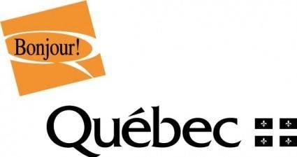 free vector Bonjour Quebec logo