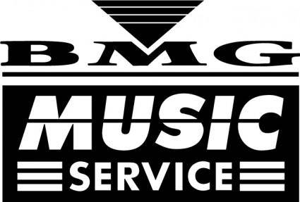 free vector BMG music service logo