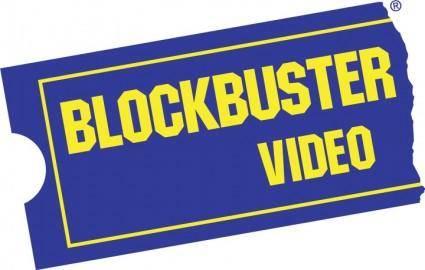 free vector Blockbuster video logo