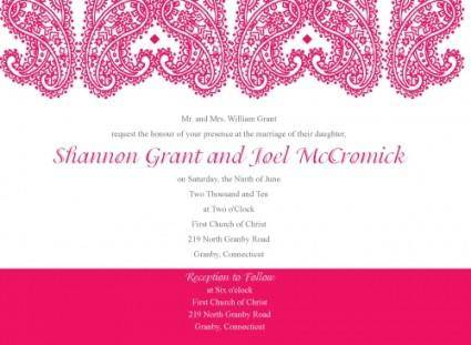 free vector Paisley_Wedding_Invitation_Set