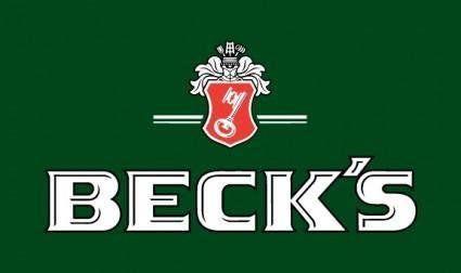 free vector Becks logo2